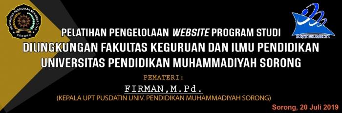 Pelatihan Pengelolaan Website Program Studi di Lingkungan FKIP